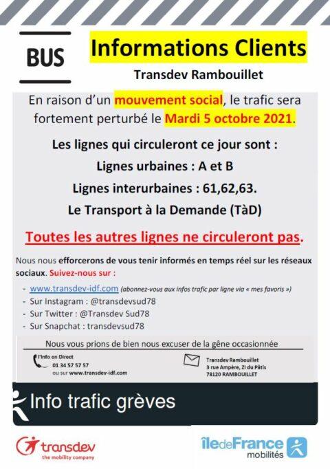 Préavis de grève Transdev Ile-de-France